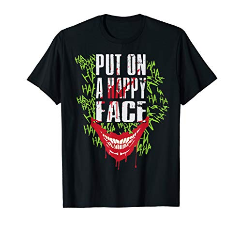 Happy Halloween Horror Movie (Joker Card Player Happy Face Movie Fan Tops & Tees)
