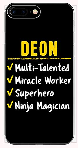 Deon Talented Superhero Ninja Miracle Worker Name Pride Funny Saying Gift - Phone Case for iPhone 6+, 6S+, 7+, 8+