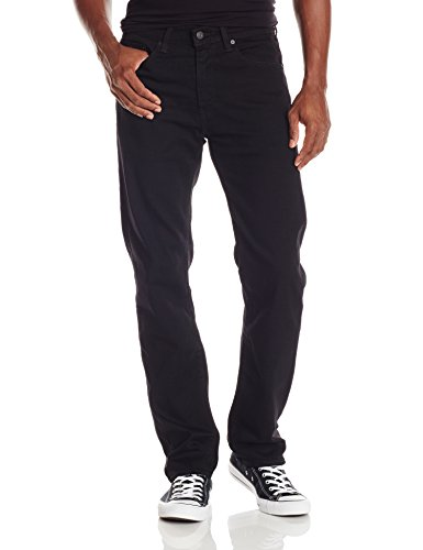 Levi's Men's 505 Regular Fit Strong Jean, Strong Black Rinse,33Wx32L