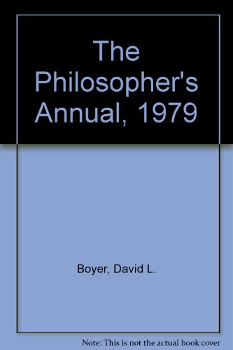 The Philosopher's Annual, 1979