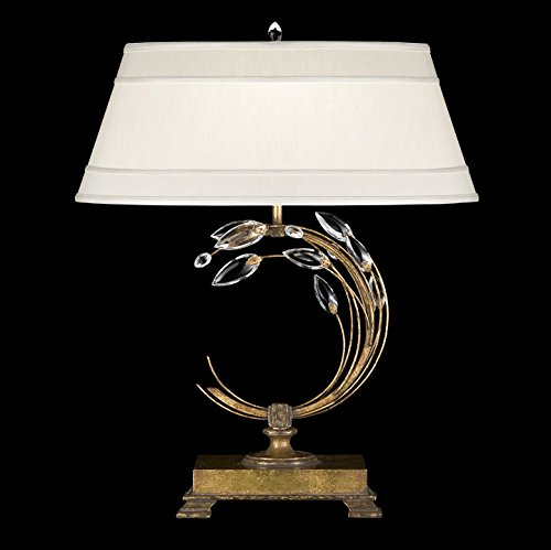 Chandelier Laurel Crystal Gold (Fine Art Lamps 778010, Crystal Laurel Tall 3 Way Crystal Table Lamp, 1 Light, 150 Total Watts, Gold)