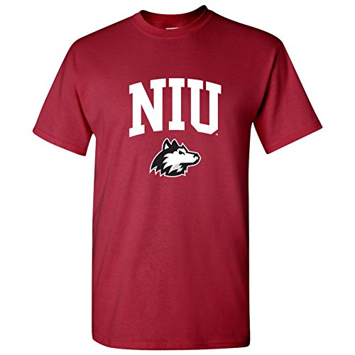 Basketball Husky Mens - AS03 - Northern Illinois Huskies Arch Logo T-Shirt - 3X-Large - Cardinal