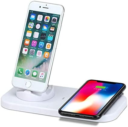 4-in-1 Multi-Funzione Caricabatterie Desktop Wireless per i telefoni cellulari Come Apple Android Music
