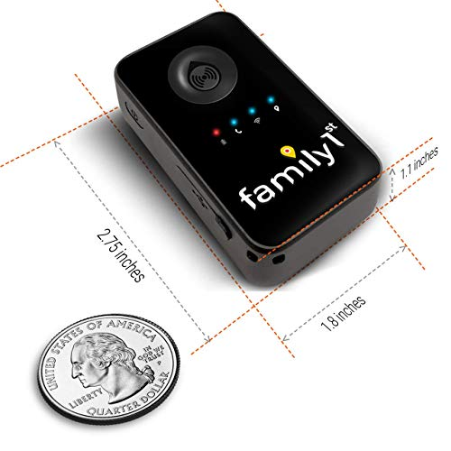 Family1st Vehicle GPS Tracker - Mini Geofence GPS Tracker for Trucks, Stroller, Toolbox, Pocket & Motorbike & Purse - GPS Tracking Kids Vehicles for Kids, Cars, Pets, Luggage, Senior Persons, Black