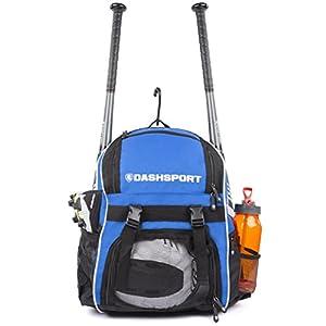 DashSport Baseball Bag Softball Backpack Bat Bag for Youth and Adults | Kids T-Ball Equipment and Softball Bag | Gear for Girls and Boys | Youth Bat Pack