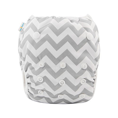 babygoal Baby Boy Swim Diaper One Size Reusable Washable and Adjustable for Swimming fit 0-2 Years Babies(Stripe) (Multi Stripe Diaper Cover)