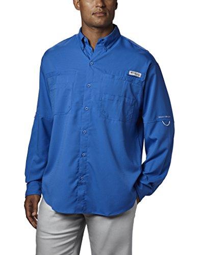Columbia Men's PFG Tamiami II Long Sleeve Shirt , Vivid Blue, Large ()