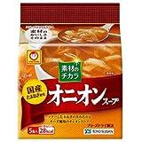 東洋水産 マルちゃん 素材のチカラ 国産オニオンスープ (7.3g×5食)×6袋入