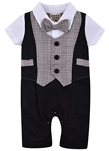 ZOEREA Baby Boys Kids Toddler Gentleman One-piece Romper Jumpsuit Outfit Clothes