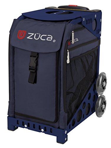 Zuca Midnight Sport Insert Bag and Navy Blue Frame with Flashing Wheels by ZUCA