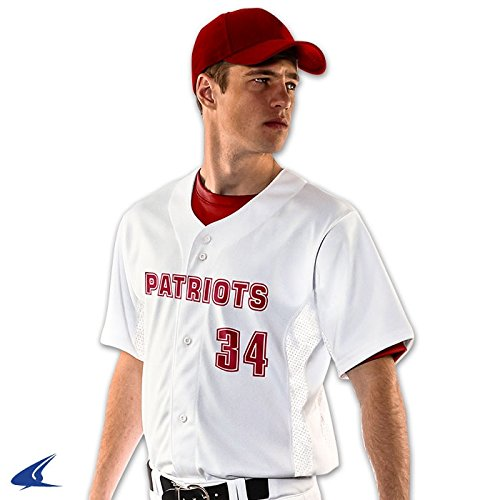 Champro Reliever Full Button Adult Baseball Jersey - Graphite - Medium Full Button Adult Baseball