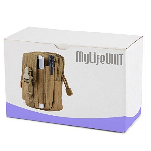 mylifeunit Universal Tactical Taille Tasche, Military Taille Gürteltasche mit Telefon Fall, Reißverschluss Taille Pack