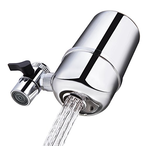 Healfit Faucet Mount Water Filter for Bathroom Kitchen, Reduce Chlorine PH Rust Sediment