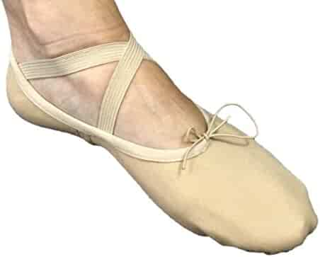 DanceNwear Value Strap Tap with Star Tone Toe and Heel Taps 7.5CH, Caramel