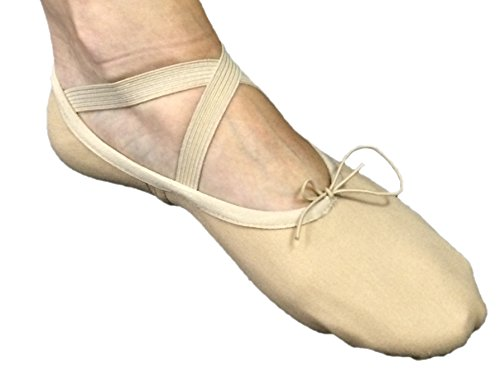 Unisex Canvas Ballet Slipper Jazzy Tan