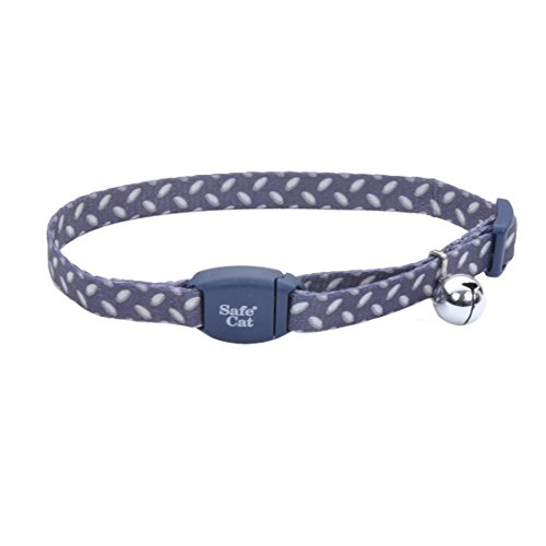 CharCoal Diamond Plate Safe Cat Adjustable Breakaway Collar with Magnetic Buckle By Coastal Pet