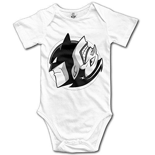 Kamici Baby Joker Mix Mask Man Short Sleeve Climb Clothes Romper White 24 Months (Shera Costumes)