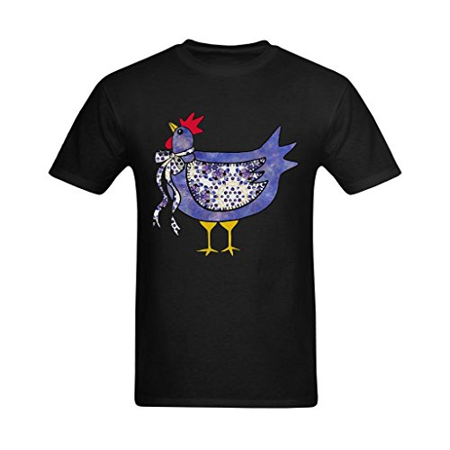 Chicken Clipart - Fashion-In Men's Country Chicken Clipart Colored Design T-Shirt - Cool T Shirts US Size 2XL
