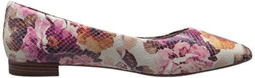 Rockport TOTAL MOTION Adelyn de la mujer Ballet Flat Pink Floral Diamond Snake