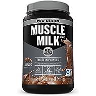 Muscle Milk Pro Series Protein Powder, Knockout Chocolate, 50g Protein, 2.54 Pound