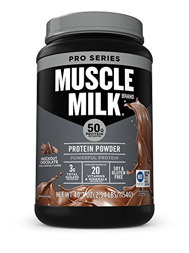 (Muscle Milk Pro Series Protein Powder, Knockout Chocolate, 50g Protein, 2.54 Pound )