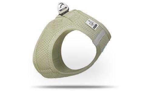 CURLI Brustgeschirr Plush Vest AIR-MESH beige für Hunde XS (31 - 34 cm)