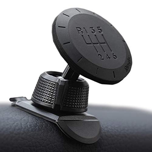 Ringke Magnetic Gear Phone Car Holder with Carbon Fiber Pattern Swivel Lock Universal Powerful Neodymium Magnet 360° Rotation Premium Space Saving Dashboard Stand