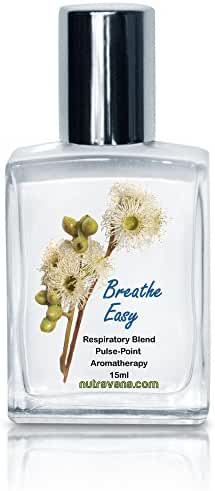 Breathe Easy -Respiratory Remedy for Sinus, Congestion, Allergy Relief 100% Authentic Pure Therapeutic Grade Essential Oils Seasonal Blend Roll-on (Safe for Kids)-Guaranteed-15ml