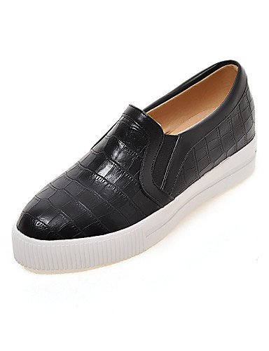 Eu39 7 Cn39 Zapatos semicuero White Redonda Zq 5 White Cn37 Plano 5 Mujer De Uk6 punta Eu37 Uk4 mocasines 5 Blanco us8 tacón negro Gyht us6 casual Z5q1AT