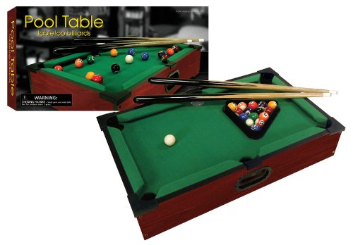 Amazon.com: New Club Fun Tabletop Executive Pool Table W/ Numbered Balls 2  Cue Sticks: Toys U0026 Games