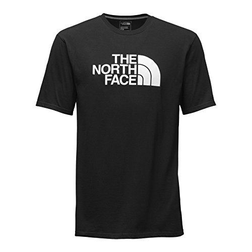 The North Face Men's Short Sleeve Half Dome Tee, Black/TNF White, MD