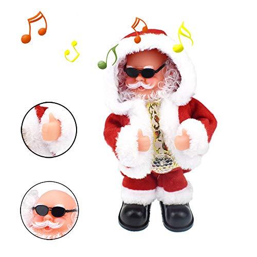 Euone  Santa Toys, Cool Animated Christmas Singing Xmas Musical Doll Santa Claus Electric Toy