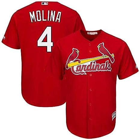 brand new cac3b 6ae08 Amazon.com : VF LSG Yadier Molina #4 St. Louis Cardinals Red ...