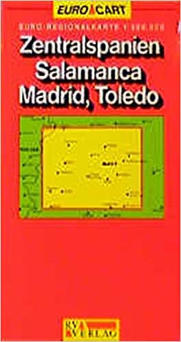Map Of Central Spain.Spain Map Central Spain Salamanca Toledo Madrid Sheet 5 Geocenter