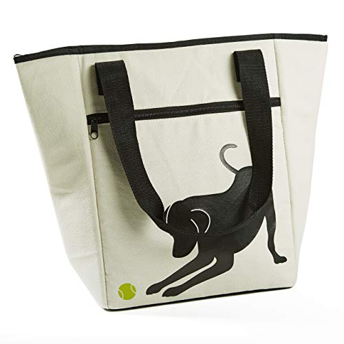 (Fit & Fresh Coronado Tote for Adults and Teens, Go Fetch, Natural & Black)