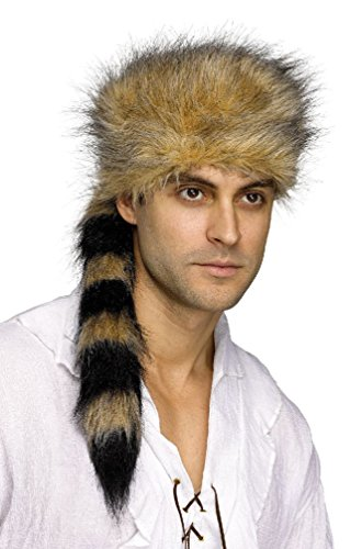 8eighteen Wild Frontier Coonskin Raccoon Hat Costume Accessory (Wild Zebra Adult Womens Costume)