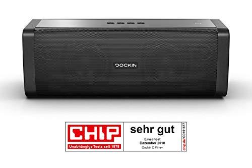 DOCKIN D Fine+ 50W Altavoz Portátil Inalámbrico, Impermeable IP55, Bluetooth 4.2 + EDR, hasta 14 Horas de Reproducción…