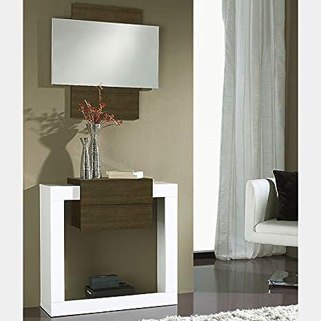 Nouvomeuble Mobile Da Ingresso Moderno Bianco E Colore