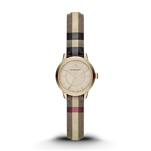 Burberry-Womens-Swiss-Honey-Check-Fabric-Strap-Watch-26mm-BU10201