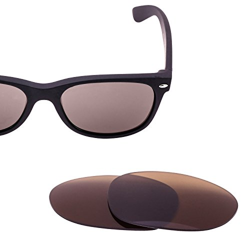 LenzFlip Replacement Lenses for Ray-Ban RB2132 NEW Wayfarer (Size 55mm) Sunglass - Brown Polarized RB 2132 by LenzFlip