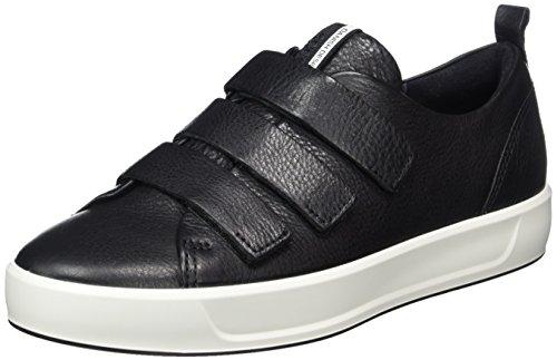 ECCO Women's Women's Soft 8 Strap Fashion Sneaker, Black, 39 EU/8-8.5 M US