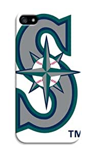 Baseball Seattle Mariners iphone 5/5s Customizable Team Logo Case Cover Skin Fit For iphone 5/5s Cases - Fashion Baseball Seattle Mariners