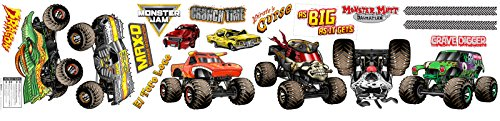 BirthdayExpress Monster Jam Childrens Room Decorations - Small