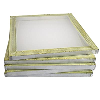 "6 Aluminum Silk Screen Printing Press Screens 156 Frame Mesh 18"" x 20"""