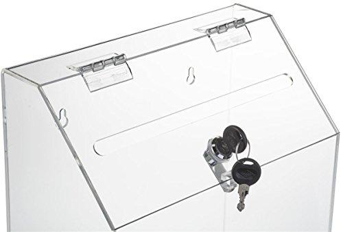 Locking Ballot Box With Front Pocket Wall Mounting 2