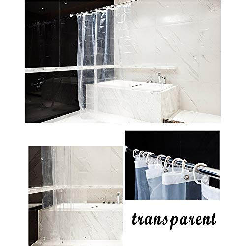 DICPOLIA Bathroom supplies Strongest Mildew Resistant Shower Curtain Liner on The Market-100% Anti-Bacterial Heavy Duty Liner-Waterproof,Clear (A)