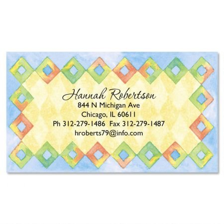 Calling Set Border Card - Harlequin Diamond Border Business Cards - Set of 250 2