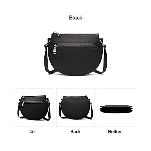 Bags Cross Small Genuine Women Cowhide Bags Shoulder Body Saddle Black Leather Cross Purse Bags Fashion Pattern Cqvtqr
