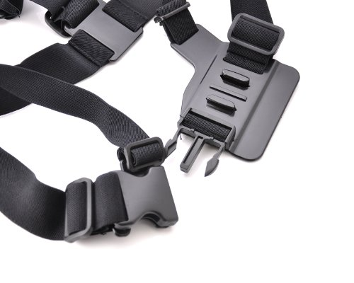 Adjustable Chest Mount Harness for GoPro Hero 1, Hero 2, Hero 3, Hero 3+, Hero 3 Plus, Hero 4 Camera - Black