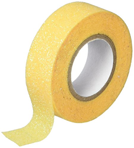 Best Creation GTS011 Glitter Tape, 15mm by 5m, Yellow